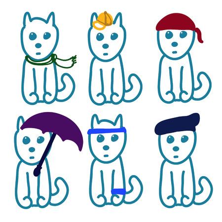 Cartoon cute Hand draw dog Stock Photo - 27769009
