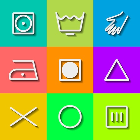 Set of Flat Wash Icons photo
