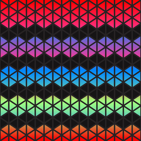 Abstract colorful Geometric triangles background.  photo