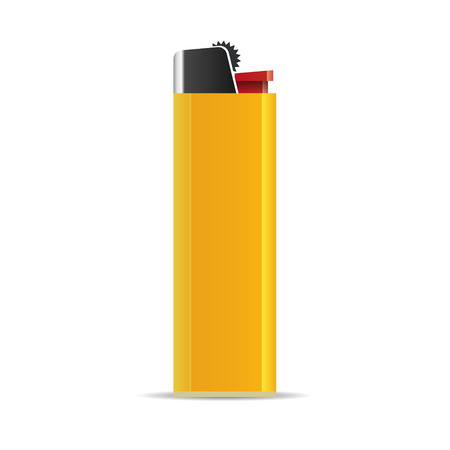 Lighter isolated on white background. Vector illustration Vector