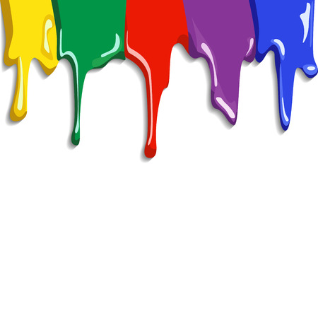 Abstract Colorful wet Paint Splat vector illustration background Vector
