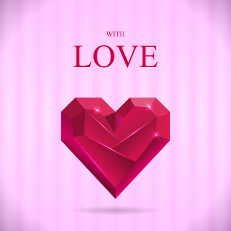 Abstract Valentine Card. Heart Gem. Vector illustration Vector