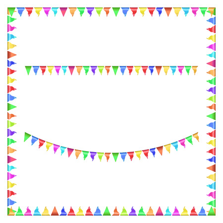 Party flags isolated Frame Decoration. Vector illustration Vector