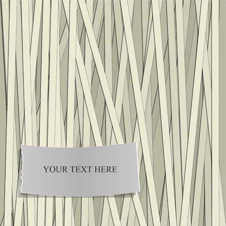 stripe pattern: Stripe pattern with Label for Text. Vector illustration