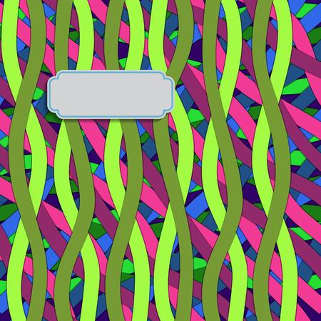 stripe pattern: Striscia modello con etichetta per il testo. Illustrazione vettoriale