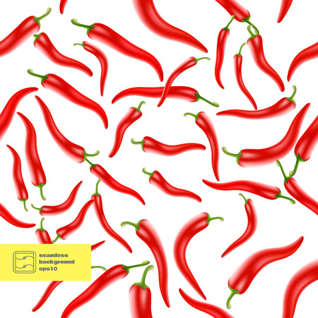 Red Hot Chili Peppers Seamless Background. Vector illustration