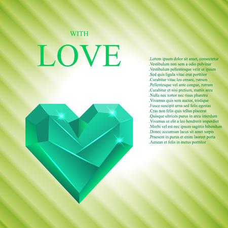 Abstract Valentine Card. Heart Gem.