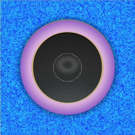 Sound Speaker isolated on blue.  Vector