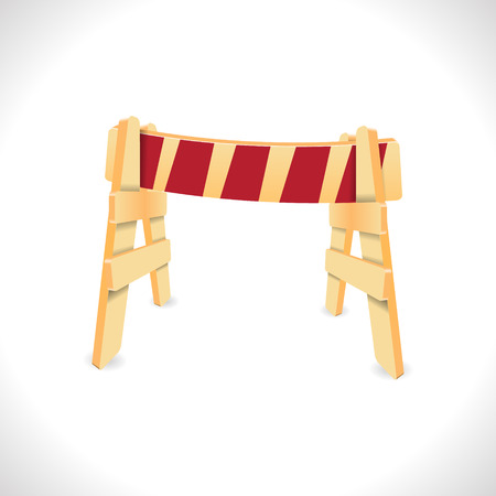traffic barricade: Traffic Barricade isolated on white illustration