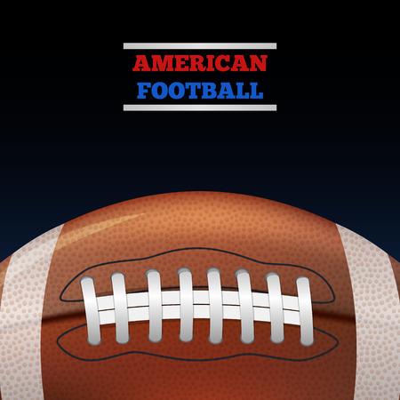 footbal: American Football Ball on dark background