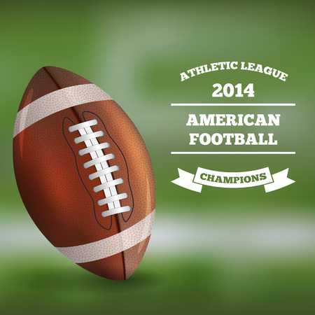 American Football on Blurred Background