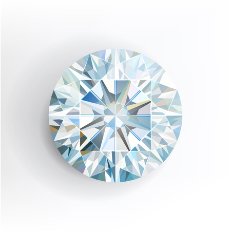 Diamond isolated on white background. Vector illustration Vector
