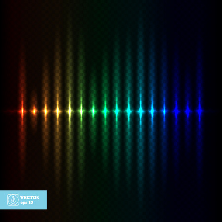 Abstract Colorful Light Glow Equalizer. Vector