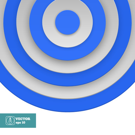 Blue Target on white background.  Vector