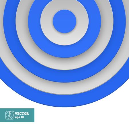 Blue Target on white background.