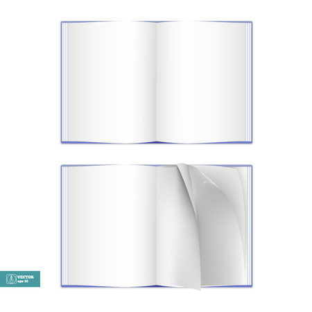 book isolated: Open Book isolated on white. Vector illustration