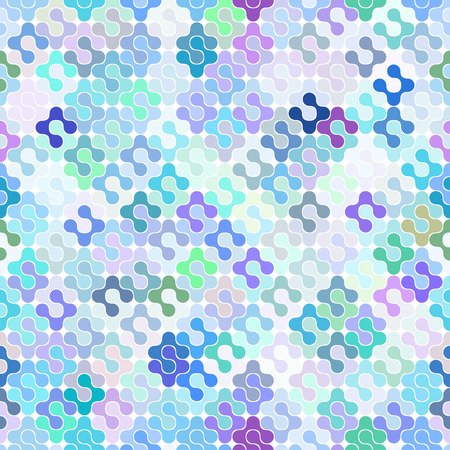 Abstract Colorful Seamless Meta Ball Pattren. Vector illustration