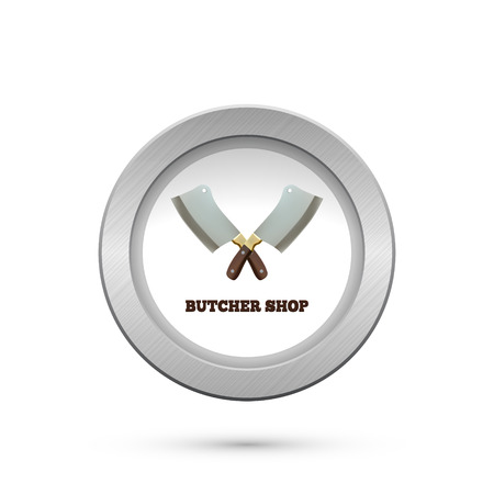 Butcher House. Cleavers isolated on white. Vector illustration Vector