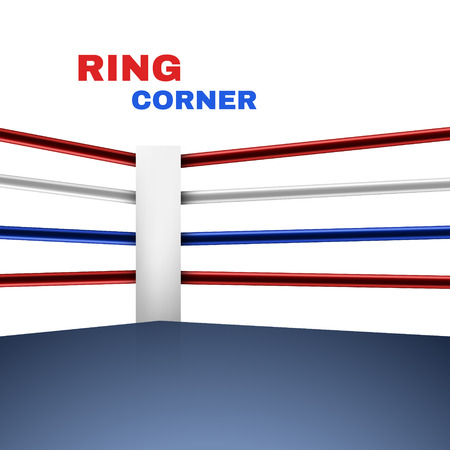 Boxing Ring Corner with white background. Vector illustration