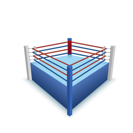 boxing ring: Boxing Ring Isolated on white. Vector illustration Illustration