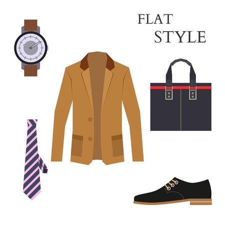 Mens Wear Look Fashion. Flat Style. Vector illustration Illustration