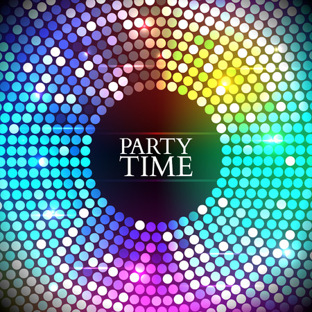 electronic background: Abstract Colorful disco lights round. Vector illustration Illustration
