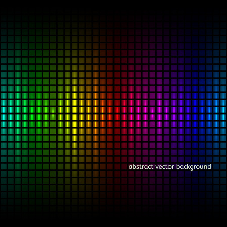 Abstract colorfuls squares equalizer background. Vector illustration Illustration