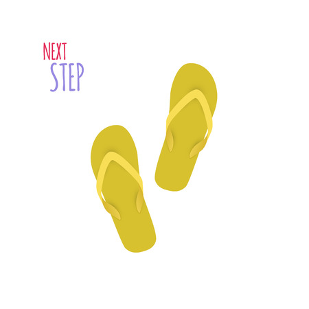 the next step: Next Step Slippers isolated. Banner. Vector illustration Illustration