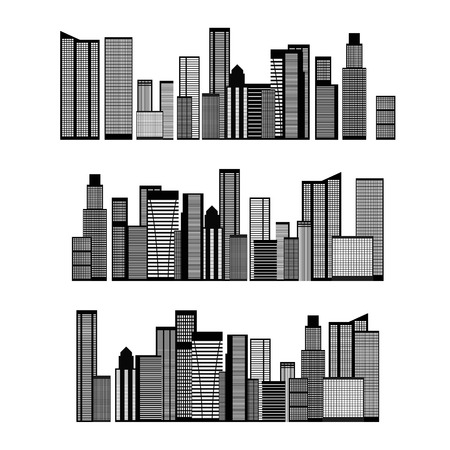 scape: Abstract Skyline City Scape background. Vector illustration Illustration