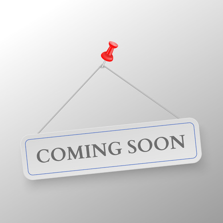 coming soon: Coming Soon on white background. Vector illustration