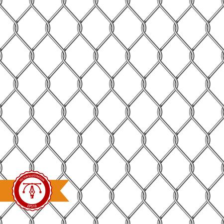 Seamless Wire Mesh. Net. Cage. Vector illustration Stock Illustratie