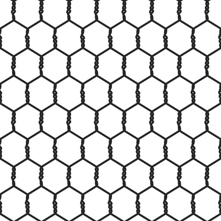 Seamless Wire Mesh. Net. Cage. Vector illustration Vectores