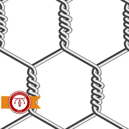 Seamless Chicken Wire Mesh. Net. Cage. Vector illustration