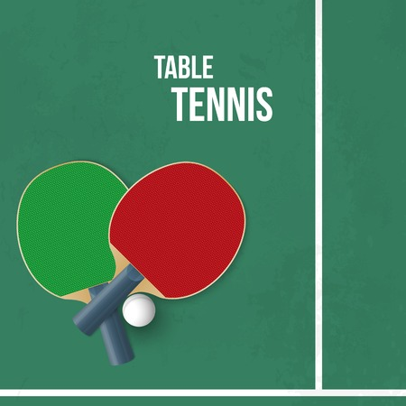 Two rackets for playing table tennis. Vector illustration Vector