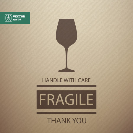 fragile industry: Fragile Sign. Handle with Care. Vector illustration Illustration