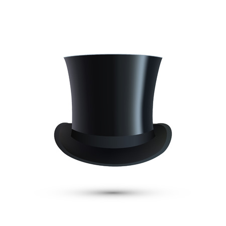 bowler hats: Top Hat isolated on white. Vector illustration