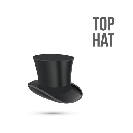 mister: Top Hat isolated on white. Vector illustration