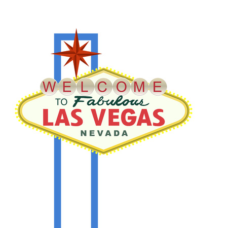 las vegas strip: Las Vegas Sign isolated on white. Vector illustration