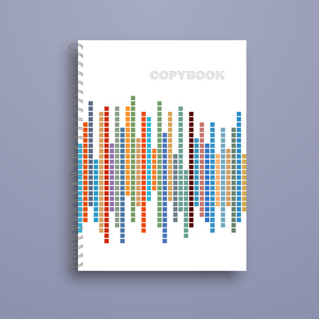 cover design: Copybook isolated on blue background. Vector illustration