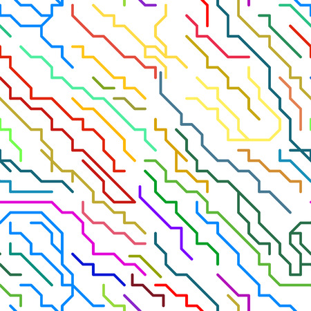 micro chip: Abstract Colorful Micro Chip Lines Seamless Pattern. Vector illustration Illustration