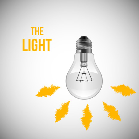 clean off: Light Bulb isolated on white. Vector illustration