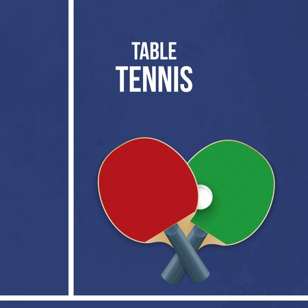 Two rackets for playing table tennis. Vector illustration Ilustração
