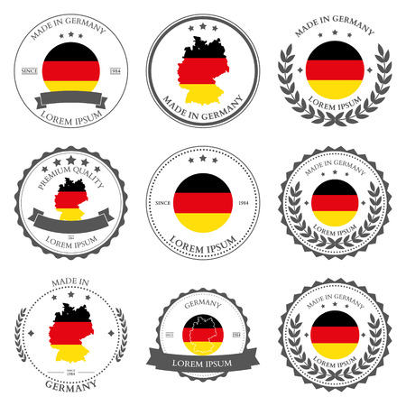 made in germany: Made in Germany, seals, badges. Vector illustration