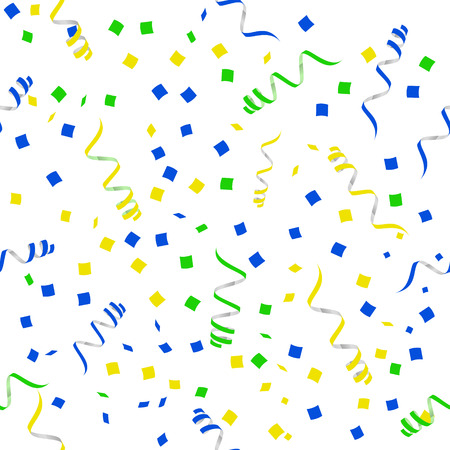 party streamers: Flat Party streamers seamless pattern. Vector. Illustration Design elements Illustration