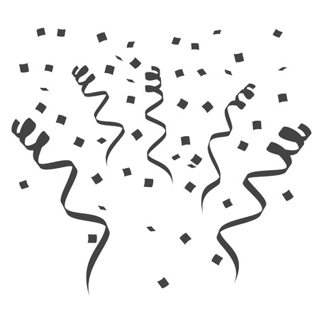 Party streamers Silhouette. Surprise. Vector. Illustration. Design elements Stock Illustratie