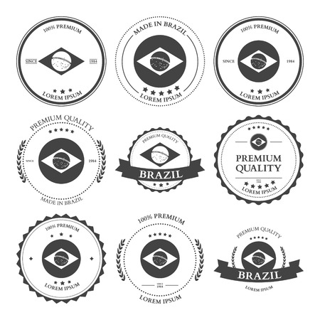 seal stamp: Made in Brazil seals badges. Vector illustration Illustration
