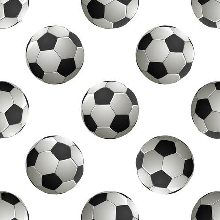 Soccer football Seamless pattern. Vector illustration Ilustração