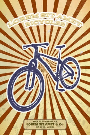 grunge layer: Vintage bicycle poster vector grunge effect on separate layer
