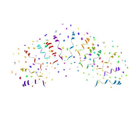 different directions: confetti blast in different directions vector illustration Illustration