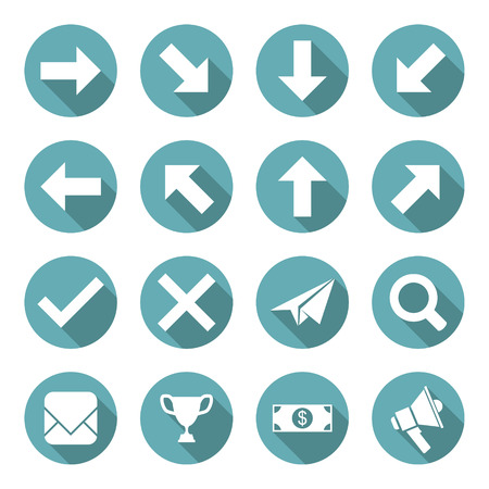 yes no: Set of Flat Icons. Vector illustration Illustration